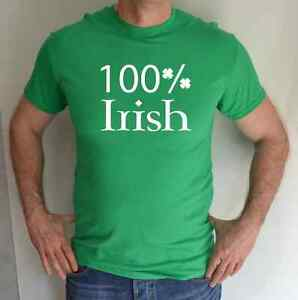 100-Irlandes-San-D-A-DE-Patricks-verde-Divertido-Camiseta