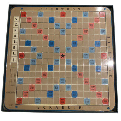Vintage 1966 Scrabble Deluxe Edition Crossword Game Turntable Base Original box