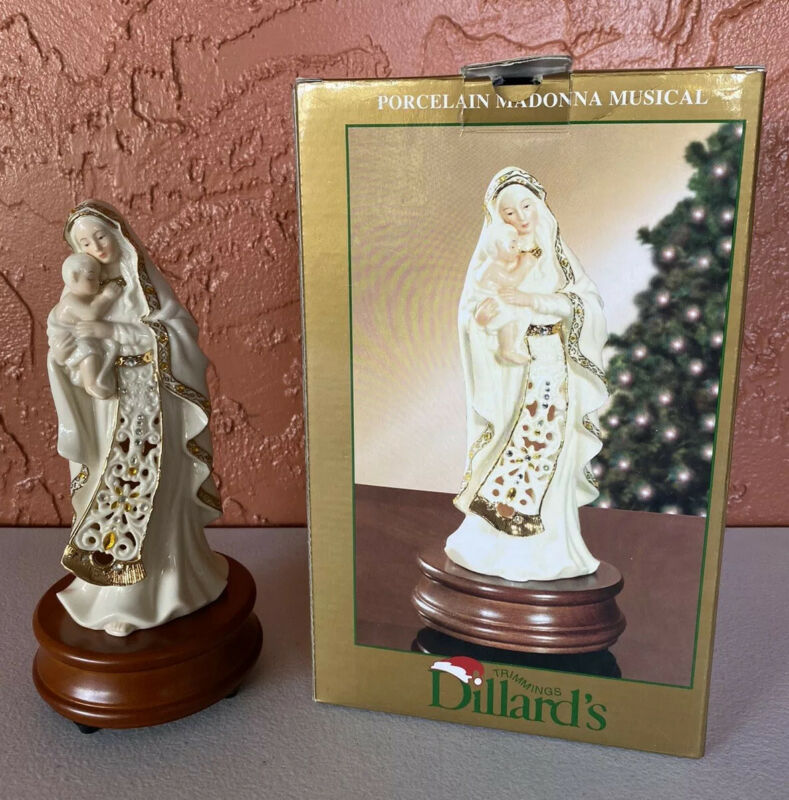 Dillards Trimmings Porcelain Madonna Musical
