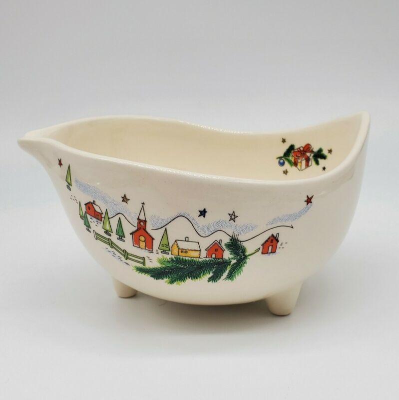 Vintage Viktor Schreckengost Salem Free Form Christmas Eve Footed Serving Bowl