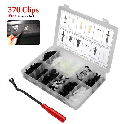 370 Clips For Mitsubishi Bumper Trim Panel Body Fastener Retainer Removal +Tool