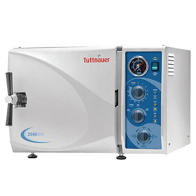 New Tuttnauer 2540mk Manual Autoclave With Quick Cycles Chamber Size 10 X 19