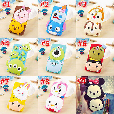 Cute disney Cartoon minnie Soft Rubber Case Cover For Samsung galaxy S6 S5 note4
