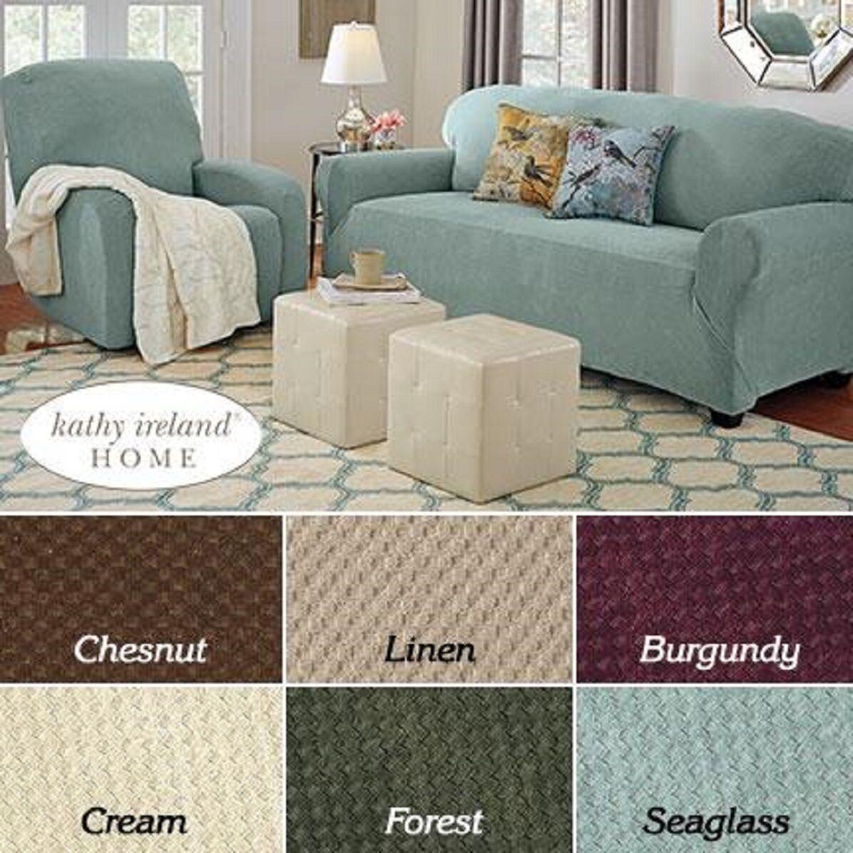 Pique Stretch Furniture Slipcover Loveseat Dark Burgundy Cover NEW Furniture