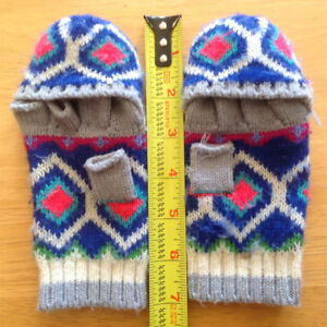 Kids convertible wool gloves