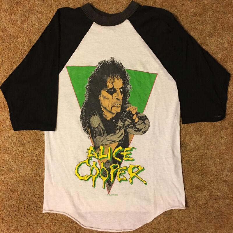 Alice Cooper Constrictor Nightmare Returns Concert Tour T-Shirt Jersey '86-'87