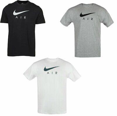 Nike T-Shirt Men's Air Swoosh Logo Vintage Athletic Short Sleeve Gym Active Tee
