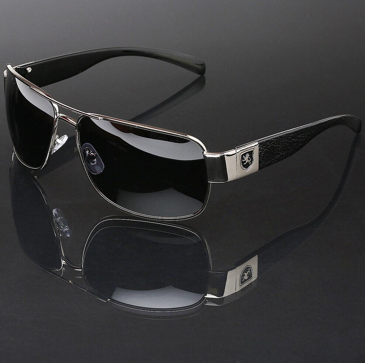 Polarized Sunglasses Retro Square Pilot Anti-Glare Driving Fishing Men Glasses