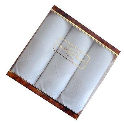 Geschenkpackung,Taschentücher,Herren,Baumwolle,41x 41cm,weiß,Herrentaschentücher