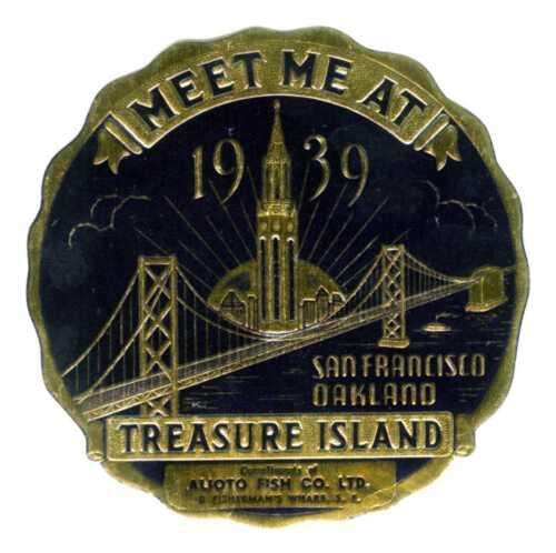 1939 GGIE SAN FRANCISCO GOLDEN GATE EXPOSITION~ALIOTO FISH CO WORLD