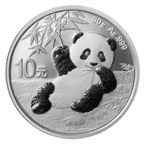 2020 Chinese Panda 30 Gram .999 Silver LIMITED Round Capsuled Bullion BU Coin
