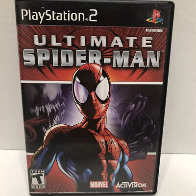 Ultimate Spider-Man (Sony PlayStation 2, 2005) complete with manual ps2