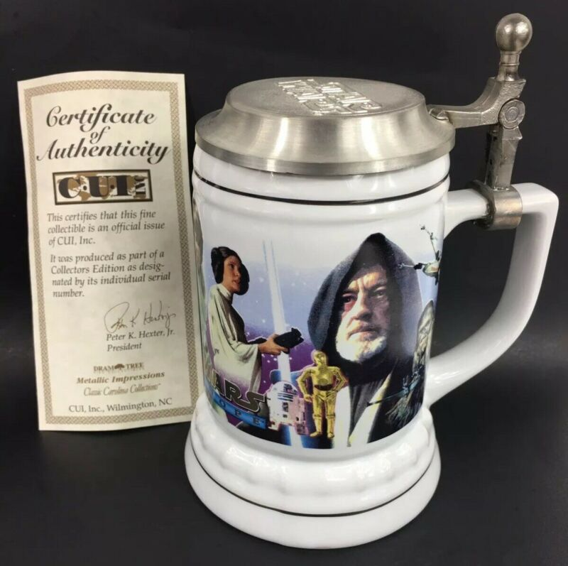 VTG Starwars Cup Mug Bottle BEER STEIN 1994 A New Hope LIMITED EDITION AUTHENTIC