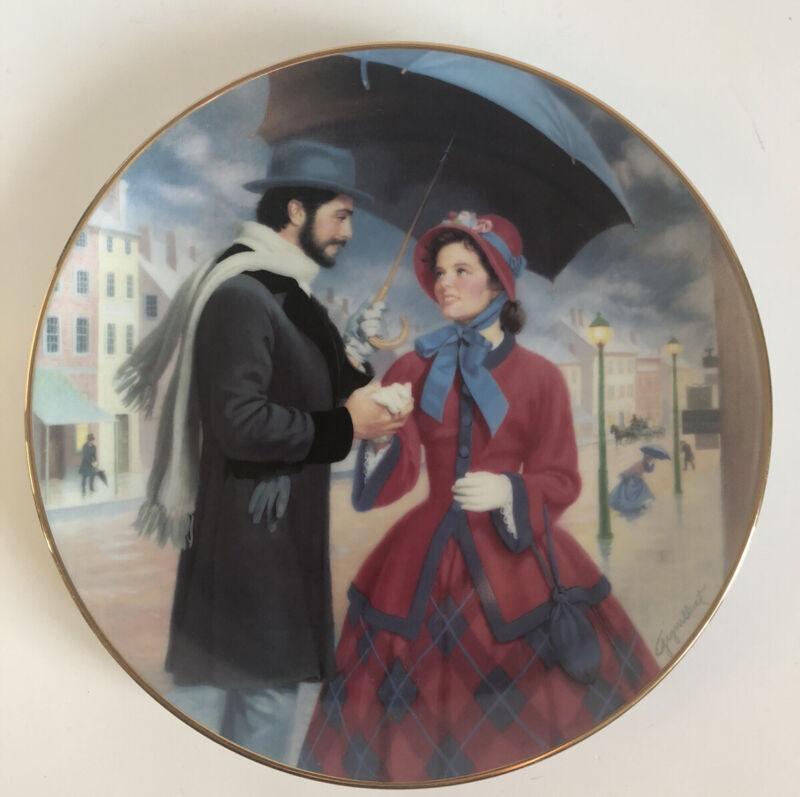 Danbury Mint Porcelain Collector Plate Little Women  The Professor's Proposal