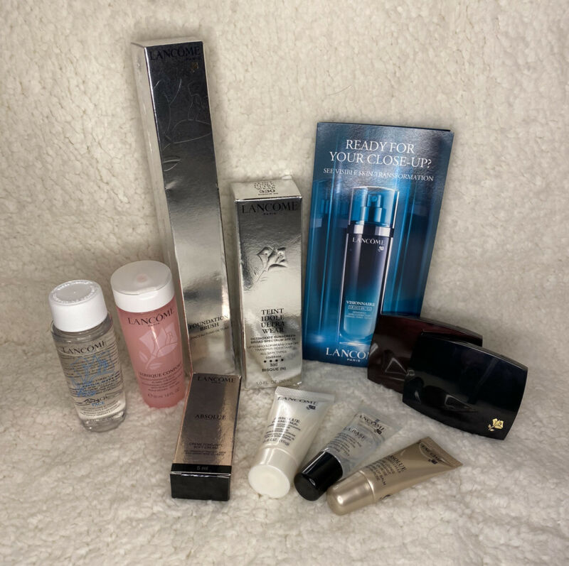 Lancome Face Product Lot With Free Gift- 10 Products- BRAND NEW