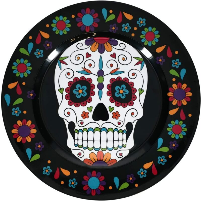 "Day of the Dead - Dia de Los Muertos - Sugar Skull -13"" Party Platter Charger"