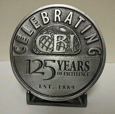 Cb I Construction Co  Commemorative 125 Yr Anniv Belt Buckle Chicago Bridge Iron