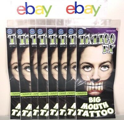 Scary Faces Halloween (Tinsley Face Tattoo Big Mouth FX Halloween Theatre Special Effect Joker)
