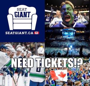 VANCOUVER CANUCKS TICKETS FROM $33 CAD!!!