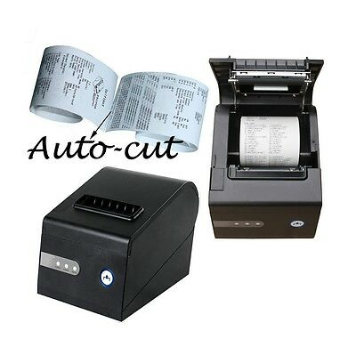 POS Thermal Receipt Kitchen 3 1/8 inch Printer Print Auto Cutting Cut Autcut USB