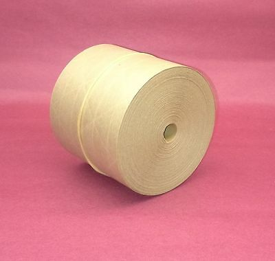 1-roll 3.00 X 100 Gummed Reinforced Paper Tape Kraft Shipping Packaging