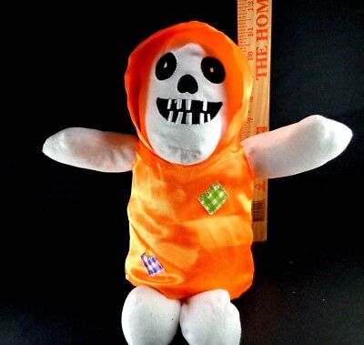 Halloween Skeleton Ghost Monster Orange Costume Plush Stuffed Toy 12