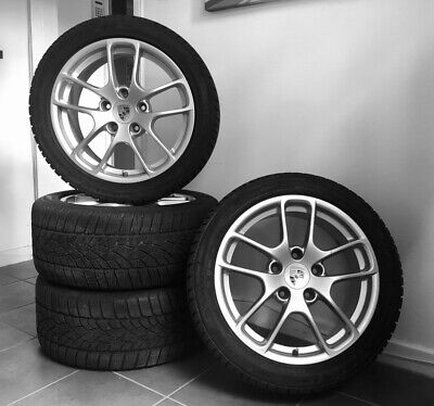 """Porsche 981 Alloy Wheels Boxster Cayman With Winter Tyres 18"""""""