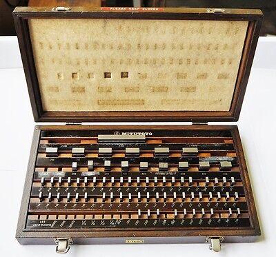 Mitutoyo 70 Piece .1001 3.000 Gage Block Set Code 516-902 Usa Japan