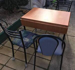 Extended dining table with four chairs for sale. Delivery availab Kingsbury Darebin Area Preview