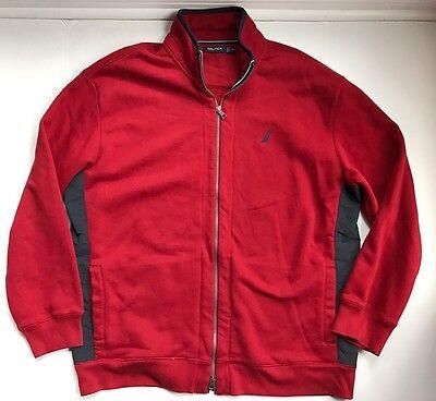 Nautica Men's Zip Red/Navy Sweatshirt Jacket Size XXL