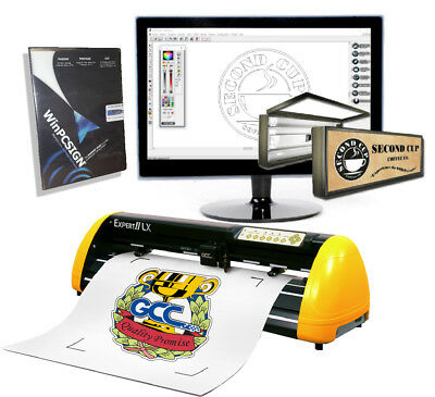 24 Vinyl Cutter Gcc Lx Contour Cut Sign Making Software Pro