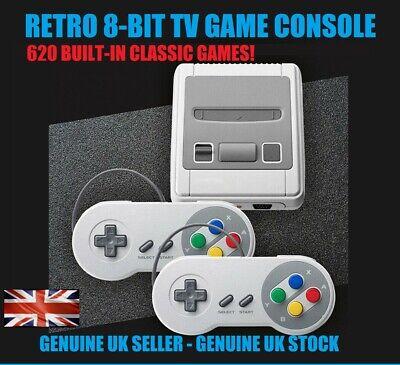 Mini Vintage SNES Retro Game Console Classic Built-in 620 Games + UK...
