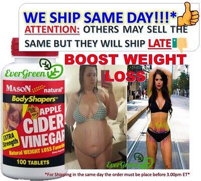 High Potency Apple Cider Vinegar 1000Mg X S Pure Diet Weight Loss Pills 100 Tabo