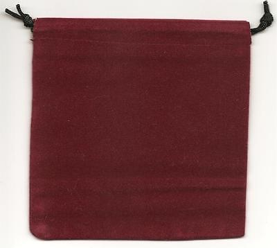 Jewelry Pouches Velourvelvet Type Pouch-lot Of 5 Burgundy Color-size 5 14 Sq