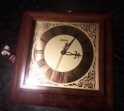 SUNBEAM ELECTRIC WALL CLOCK MODEL A-500 GOOD CONDITION NOT WORKING WOOD FRAME