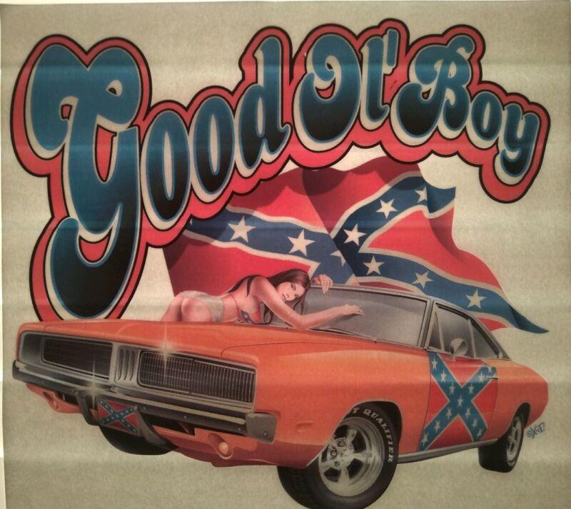Vintage Dodge Charger good ol boys Iron On, original t-shirt transfer