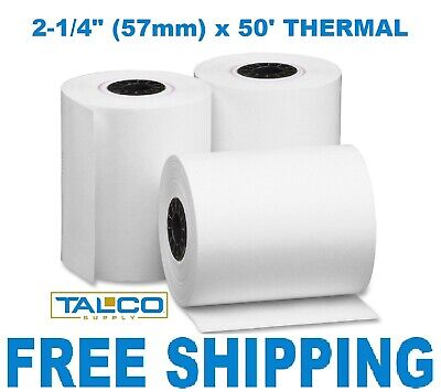 50 Credit Card 2 14 X 50 Thermal Paper Rolls For Nurit 8000 Free Shipping