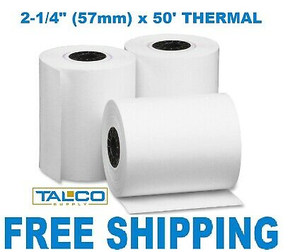 Verifone Vx680 2-14 X 50 Thermal Receipt Paper - 400 Rolls Free Shipping