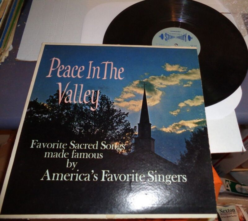 Favorite Sacred Songs Somerset SF 18500 LP Record Peace in the Valley 1964