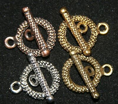 10 SETS  DELUXE TOGGLE CLASP 15mm  ANTIQUE STYLE FINDING  - Toggle Clasp