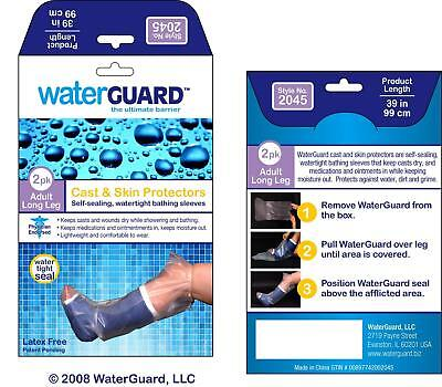 Long Leg Cast (Waterproof LONG LEG Cast Cover Water Protector for Shower, Reusable Bandage 2pk)