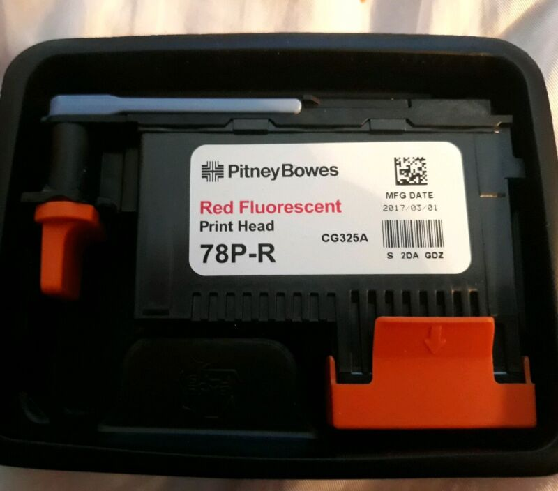 New Genuine Pitney Bowes 78P-R Fluorescent Red Printhead OEM  exp 2017
