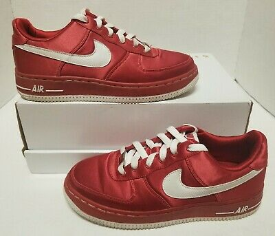Nike Air Force 1 Low (GS) Youth 5y Pre-Owned 314219-611 Red Satin/White