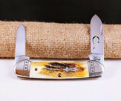 CASE XX USA 52131 SS 10 DOT 2010 STAG CANOE KNIFE RARE