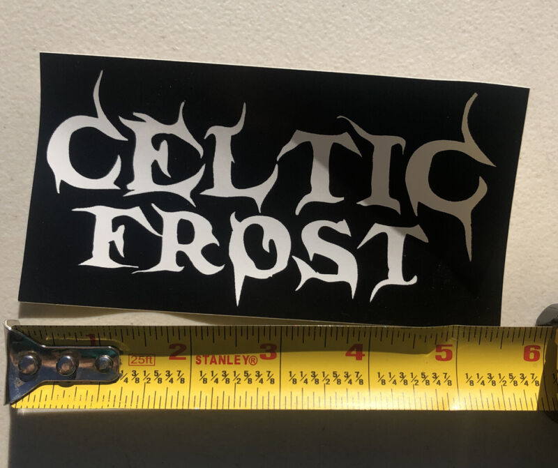 """Celtic Frost Sticker Rock Heavy Metal Band Decal  5.5"""" X 3"""" New Black White"""