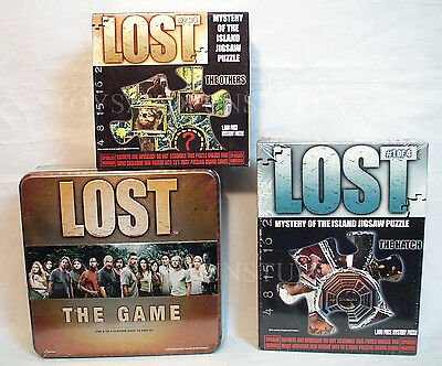 New - LOST The GAME & JIGSAW PUZZLES - #1 #2 of 4 - ABC TV 2006 Collectible Tin