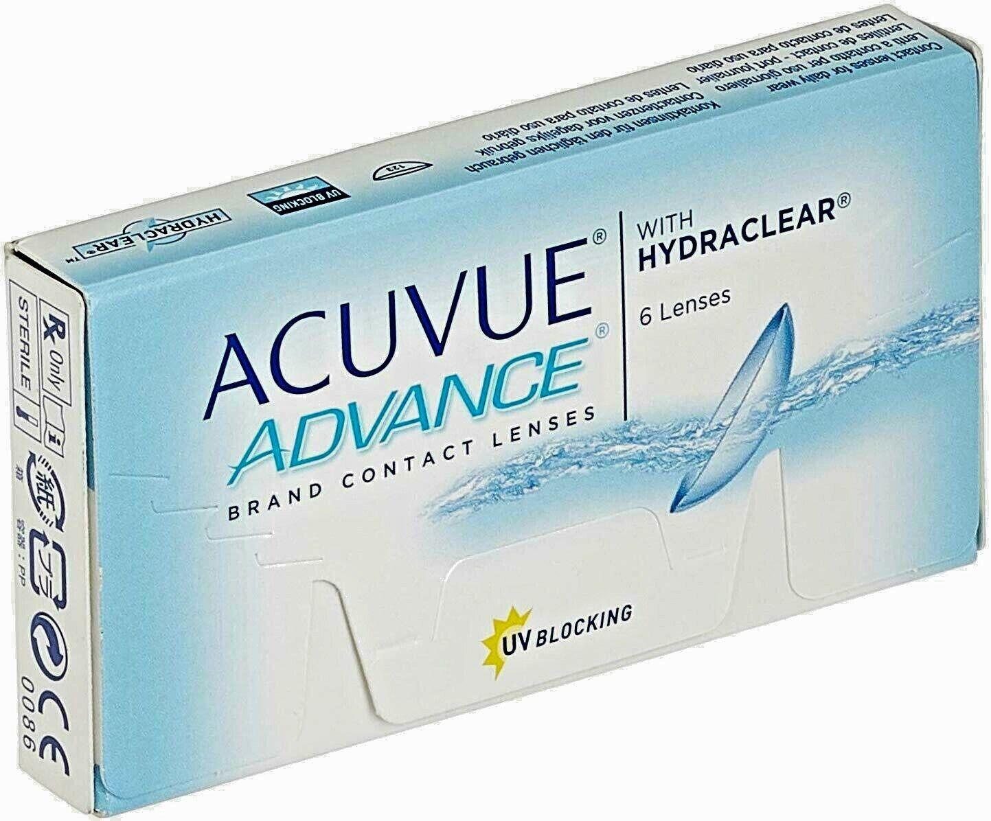 ACUVUE ADVANCE 2 Wochenlinse von Johnson und Johnson BC8,7 Neu OVP