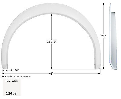Coachmen Single RV Fender Skirt FS2409, Unpainted Smooth