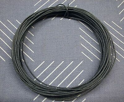 50 Ft 22awg Solid Copper Cloth Fabric Insulated Hookup Wire Black Nos Excellent
