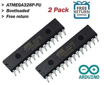 2x Atmega328p-pu Ic Chip W Arduino Uno Bootloader Usa 2pcs Dip28 Mcu